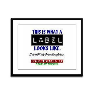 Label 1 Autism (Granddaughters) Framed Panel Print
