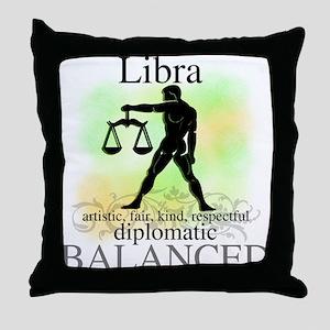 Libra the Scales Throw Pillow