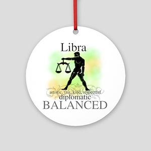 Libra the Scales Ornament (Round)