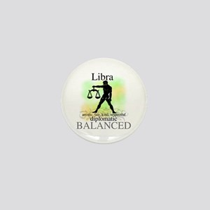 Libra the Scales Mini Button