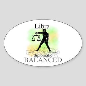 Libra the Scales Oval Sticker