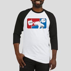 RedWhiteBlueBenchBLK Baseball Jersey