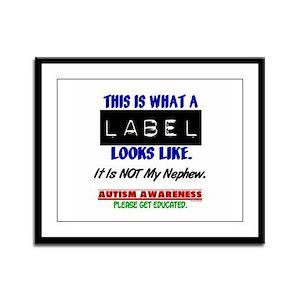 Label 1 Autism (Nephew) Framed Panel Print
