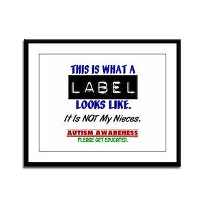 Label 1 Autism (Nieces) Framed Panel Print