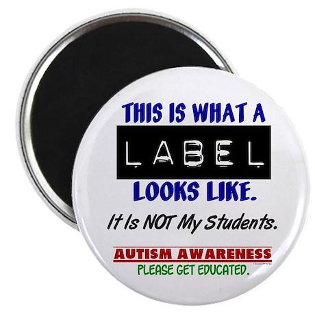 "Label 1 Autism (Students) 2.25"" Magnet (10 pack)"