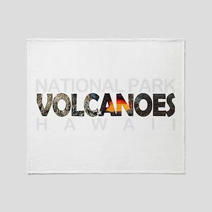 Hawaii Volcanoes - Hawaii Throw Blanket