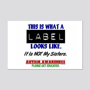 Label 1 Autism (Sisters) Mini Poster Print