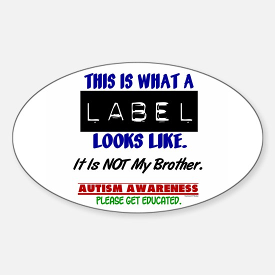 Label 1 Autism (Brother) Oval Decal