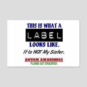 Label 1 Autism (Sister) Mini Poster Print