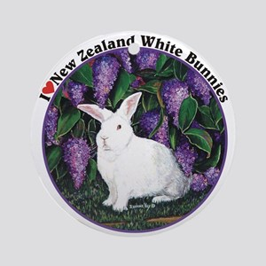 New Zealand White Bunnies Ornament (Round)
