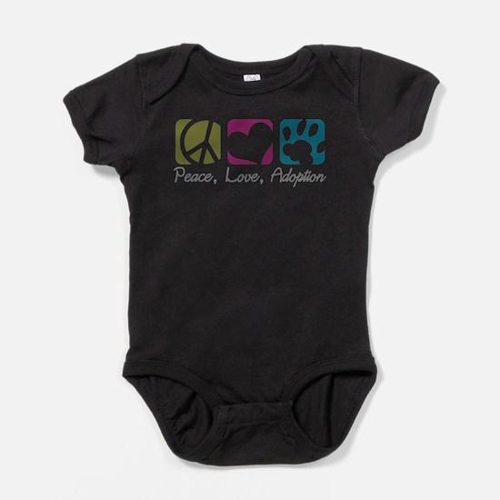Peace, Love, Adoption Infant Bodysuit Body Suit