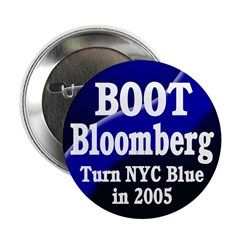 NYC Boot Bloomberg Button