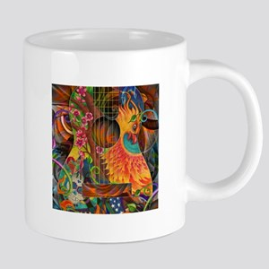 Phoenix Bird of Fire Guitar Mugs