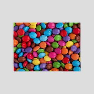 rainbow colors chocolate candy 5'x7'Area Rug