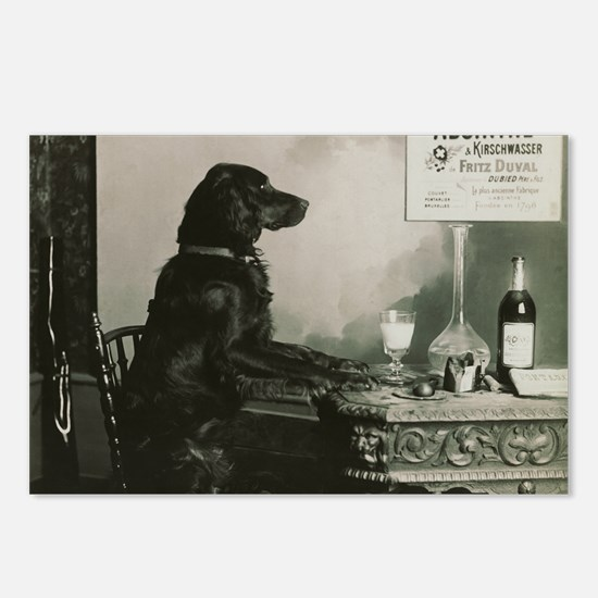 Absinthe Duval Dog Postcards (Package of 8)
