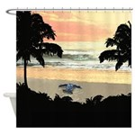 Sea Turtle Hatchling Shower Curtain