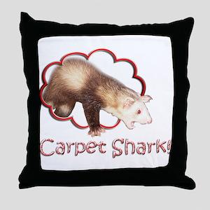 Carpet Shark Throw Pillow