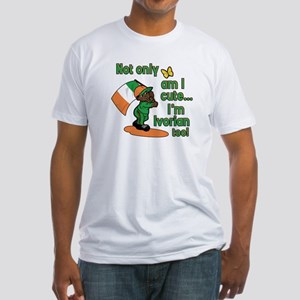 Not only am I cute I'm Ivorian too! Fitted T-Shirt