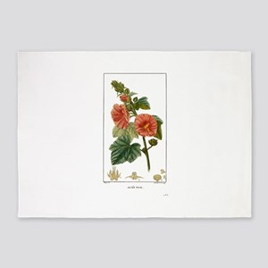 Alcee Rose Flower 5'x7'Area Rug