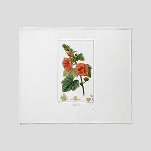 Alcee Rose Flower Throw Blanket
