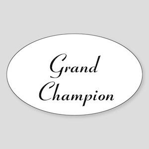 Grand Champion Sticker