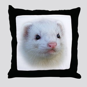 Ferret Face Throw Pillow