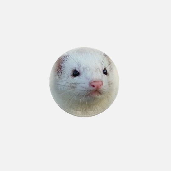 Ferret Face Mini Button