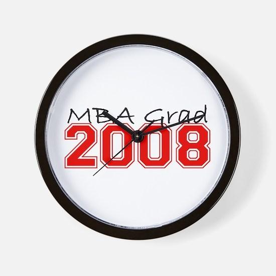 MBA Grad 2008 (Red) Wall Clock
