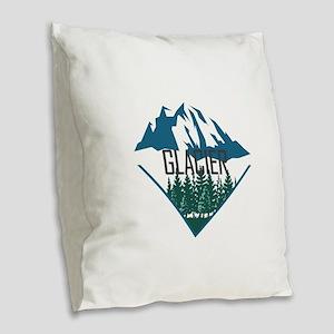 Glacier - Montana Burlap Throw Pillow