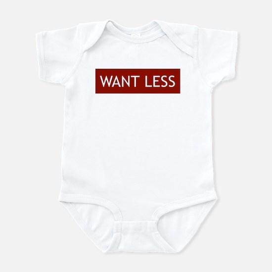 Want Less - Red Infant Bodysuit