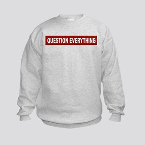 Question Everything - Red Kids Sweatshirt