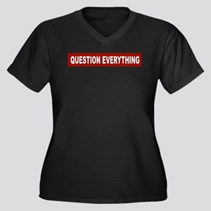Question Everything - Red Women's Plus Size V-Neck