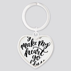 You make my heart go giddy up typography Keychains