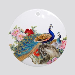 Traditional Chinese Peacocks Round Ornament