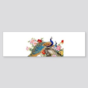 Traditional Chinese Peacocks Bumper Sticker