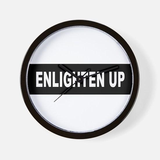 Enlighten Up - Black Wall Clock