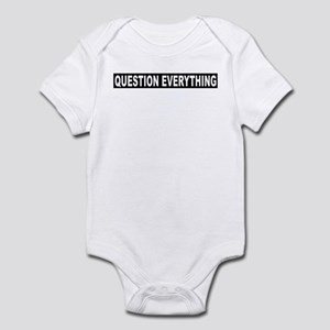 Question Everything - Black Infant Bodysuit