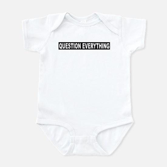 Question Everything - Black Infant Bodysuit