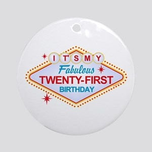 Las Vegas Birthday 21 Ornament (Round)