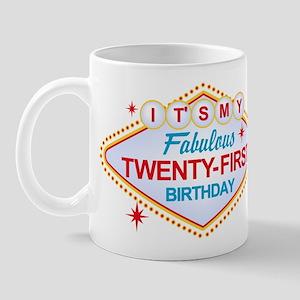 Las Vegas Birthday 21 Mug