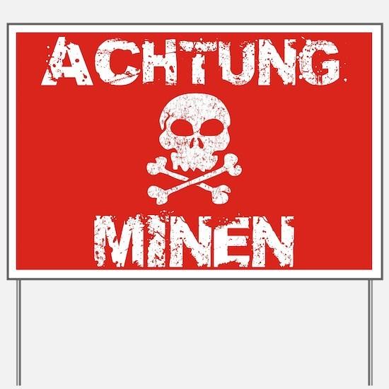 Achtung Minen Sign
