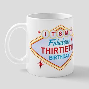 Las Vegas Birthday 30 Mug