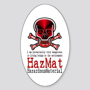 Hazardous Material - Oval Sticker