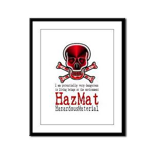 Hazardous Material - Framed Panel Print