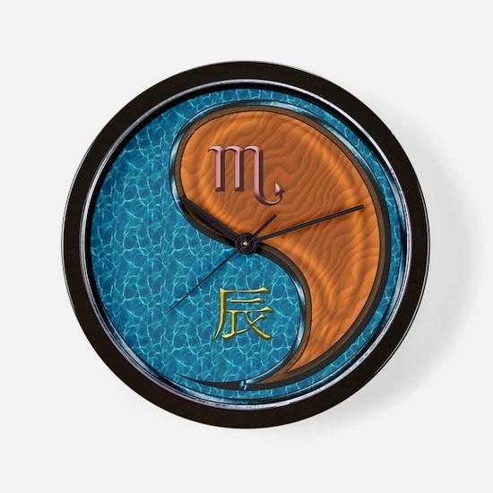 Scorpio & Wood Dragon Wall Clock