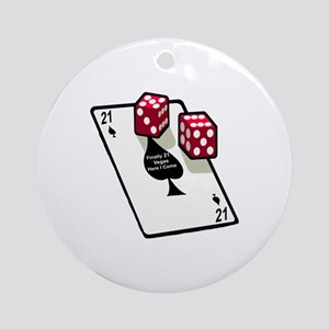 Vegas 21st Birthday Gift Ornament (Round)