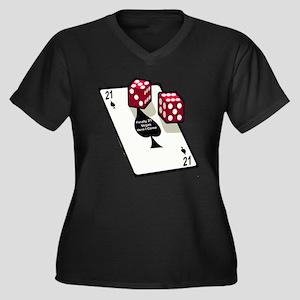 Vegas 21st Birthday Gift Women's Plus Size V-Neck