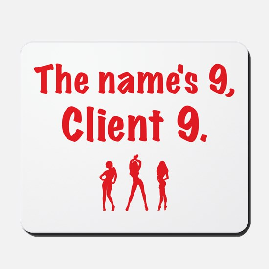 Client 9 Red Mousepad