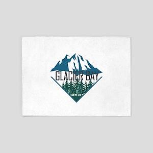 Glacier Bay - Alaska 5'x7'Area Rug