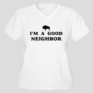 I'm a good neighbor Women's Plus Size V-Neck T-Shi